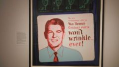 Ronald Reagan Advertisement by Andy Warhol