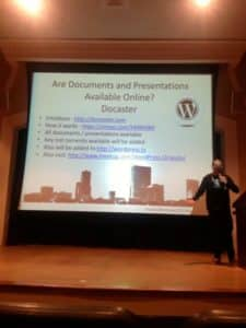 David Wolfpaw at the opening of WordCamp Orlando 2012