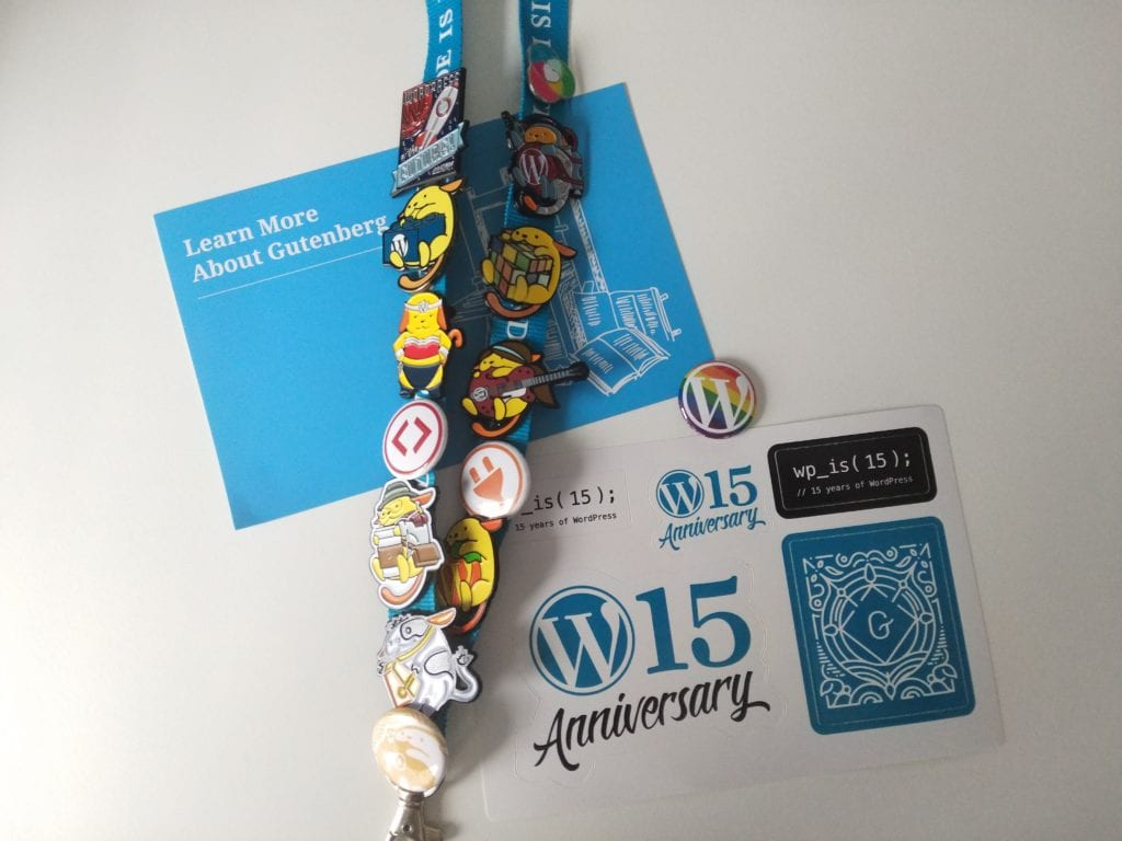 WordPress stickers and pins