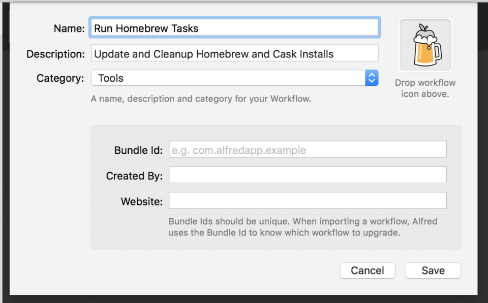 Creating a Homebrew Workflow with Alfred on MacOS – David