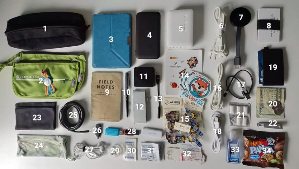 How I Pack for Travel to WordCamps and Conferences