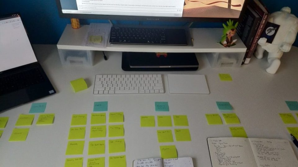 Planning with paper and post-its