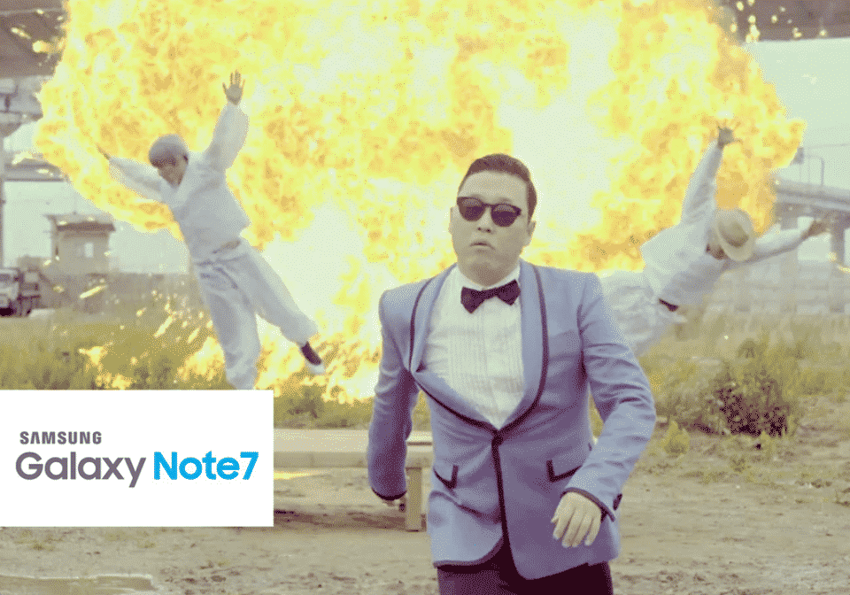Gangnam Style Galaxy Note 7 via Know Your Meme