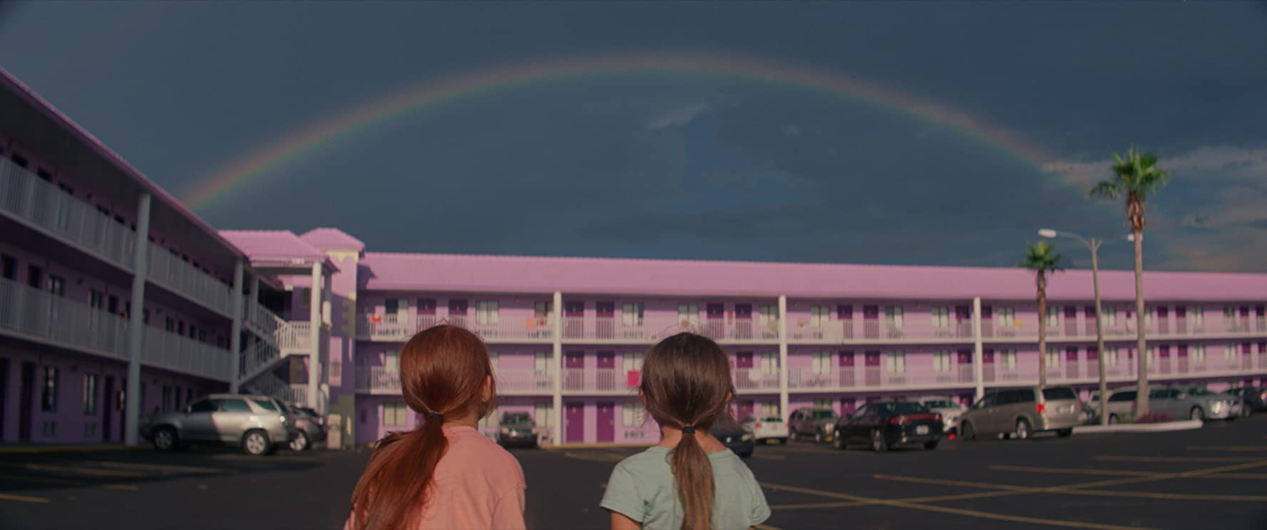 still from 'The Florida Project' showing the Magic Castle Inn